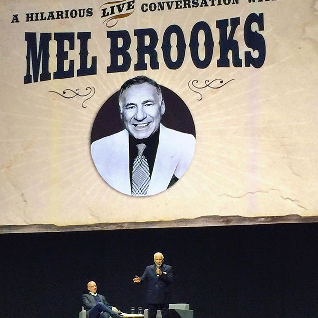 blazing saddles, mel brooks, and one of the funniest nights of my life - from Instagram