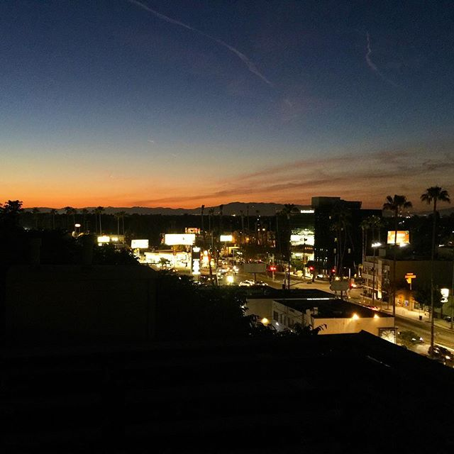 studio city sunset - from Instagram