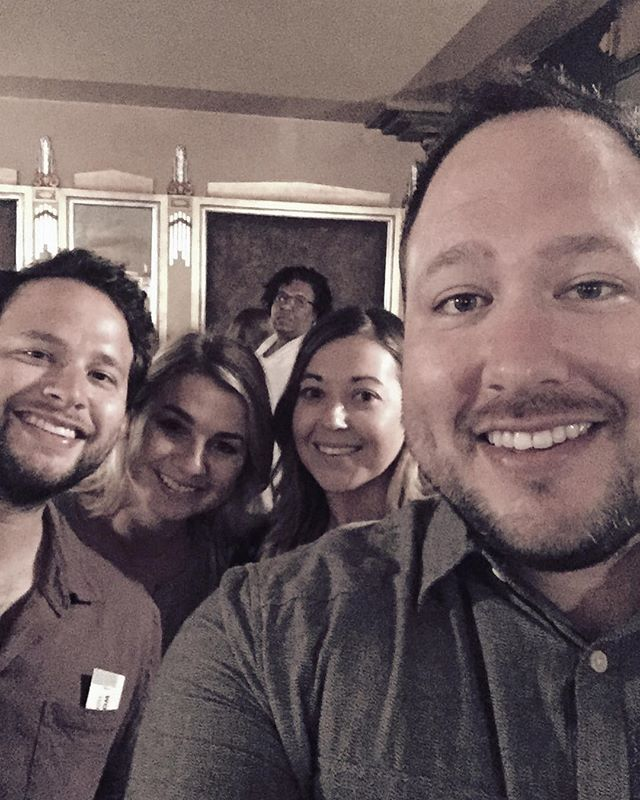 Book of Mormon with these fine folks, plus our new photobombing friend - from Instagram