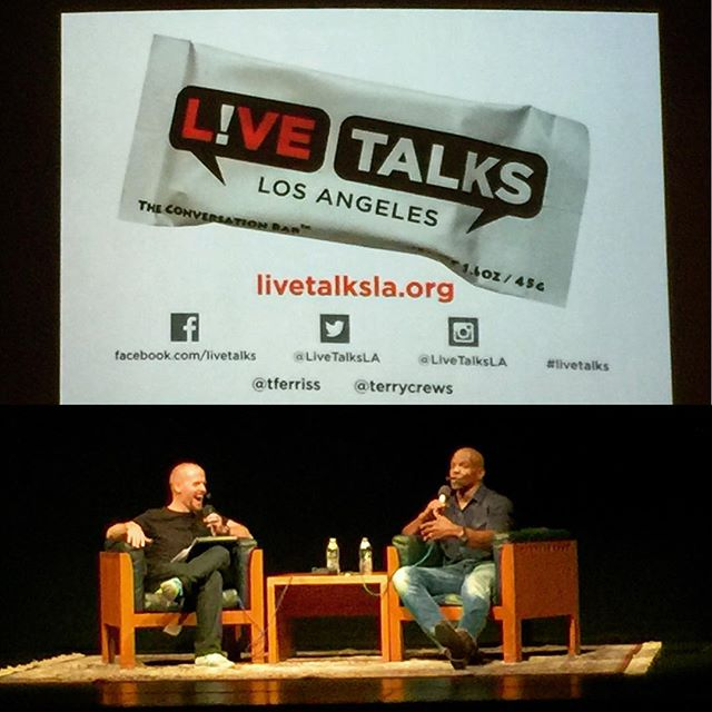 Epic #lifetalks with Tim Ferriss & Terry Crews at @livetalksla! #livetalks - from Instagram