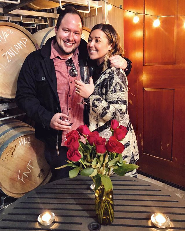 "she said ""is this a joke?"" and then she said yes. excited to spend a lifetime joking around with this crazy girl! @cline22 @fontanellawine - from Instagram"